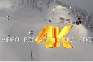 Ski Slope in Ruka Ski Resort, Finland