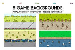 8 3D Game Backgrounds