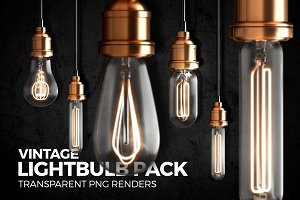 Vintage Lightbulb Renders Pack