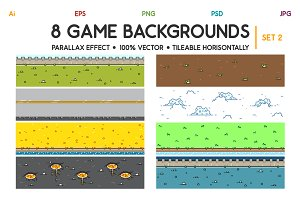 8 3D Game Backgrounds Set 2