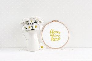 Embroidery hoop mockup #4080