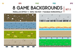 8 3D Game Backgrounds Set 3
