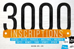 3000 INSCRIPTIONS BUNDLE