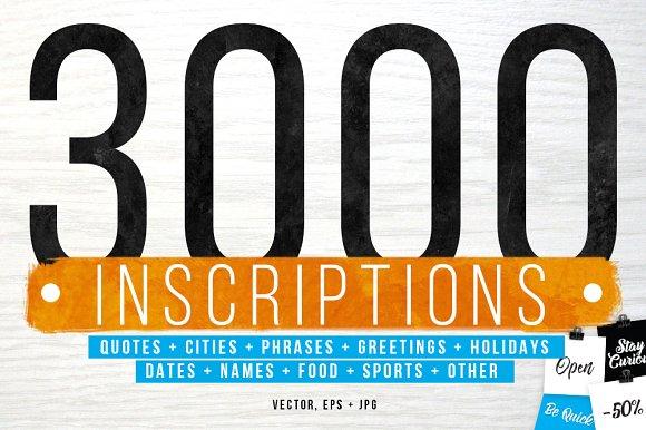 3000 INSCRIPTIONS BUNDLE
