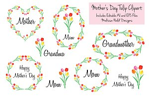 Mother's Day Tulip Clipart