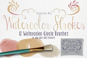 Watercolor Strokes Vol. #3
