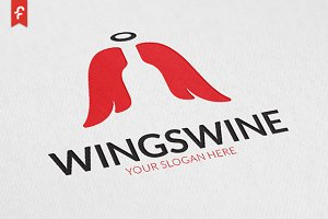 Wings Wine Logo