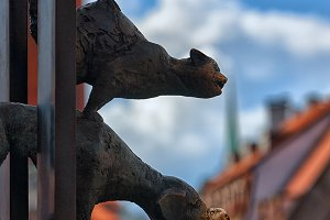The Bremen town musicians in old Riga