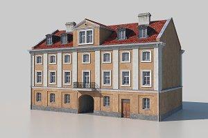 Classic european tenement facade 03