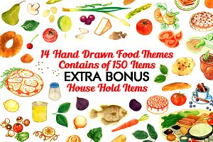 14 Wonderful Hand Drawn Food Themes