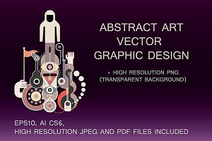 Abstract Art vector composition