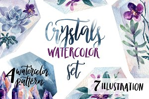 Crystal watercolor set