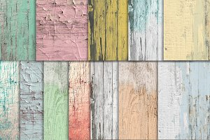 Shabby Chic Wood Digital Paper