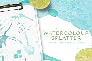 Watercolour splatter PS Brushes