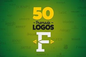 50 Letter 'F' Logos Bundle