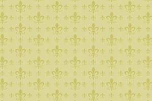 Green damask pattern