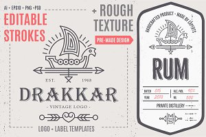 Drakkar Logo/Label Template