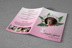 Funeral Program Template-V715