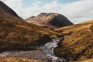 Mountain Valley in Scotland