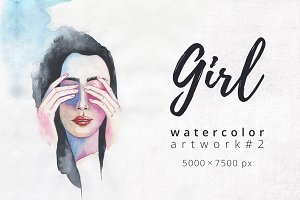 Girl. Watercolor artwork #2