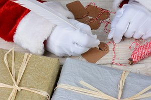 Santa Writing Gift Tags