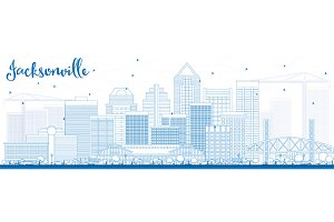 Outline Jacksonville Skyline