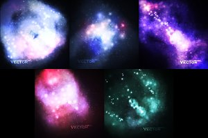 Set of Starry backgrounds