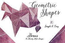 Geometric Shapes - PNG & Masks