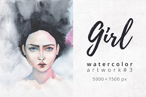 Girl. Watercolor artwork #3