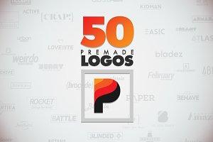 50 Letter 'P' Logos Bundle