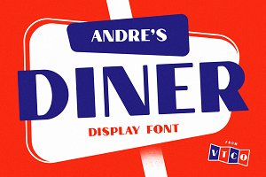 Andre's Diner Display Font