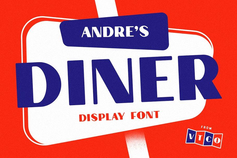 Andre's Diner Display Font