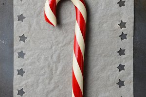 Candy Cane and Stars