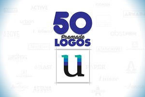 50 Letter 'U' Logos Bundle