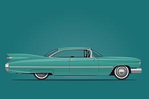 Classic American Car Illustration