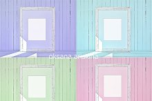 4 colors mockup frames