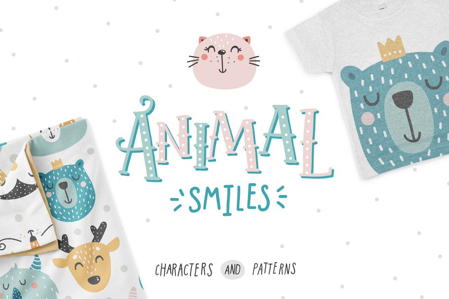 8965e00bf6 Animal smiles- Baby characters ~ Illustrations ~ Creative Market