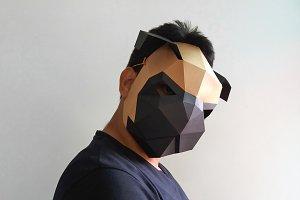 DIY Pug mask - 3d papercrafts