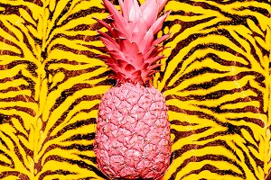 pineapple animal print. Surreal