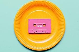 Audio cassette. Retro vibes