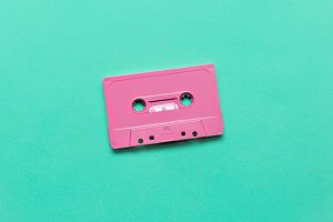 Audio cassette. Retro vibes