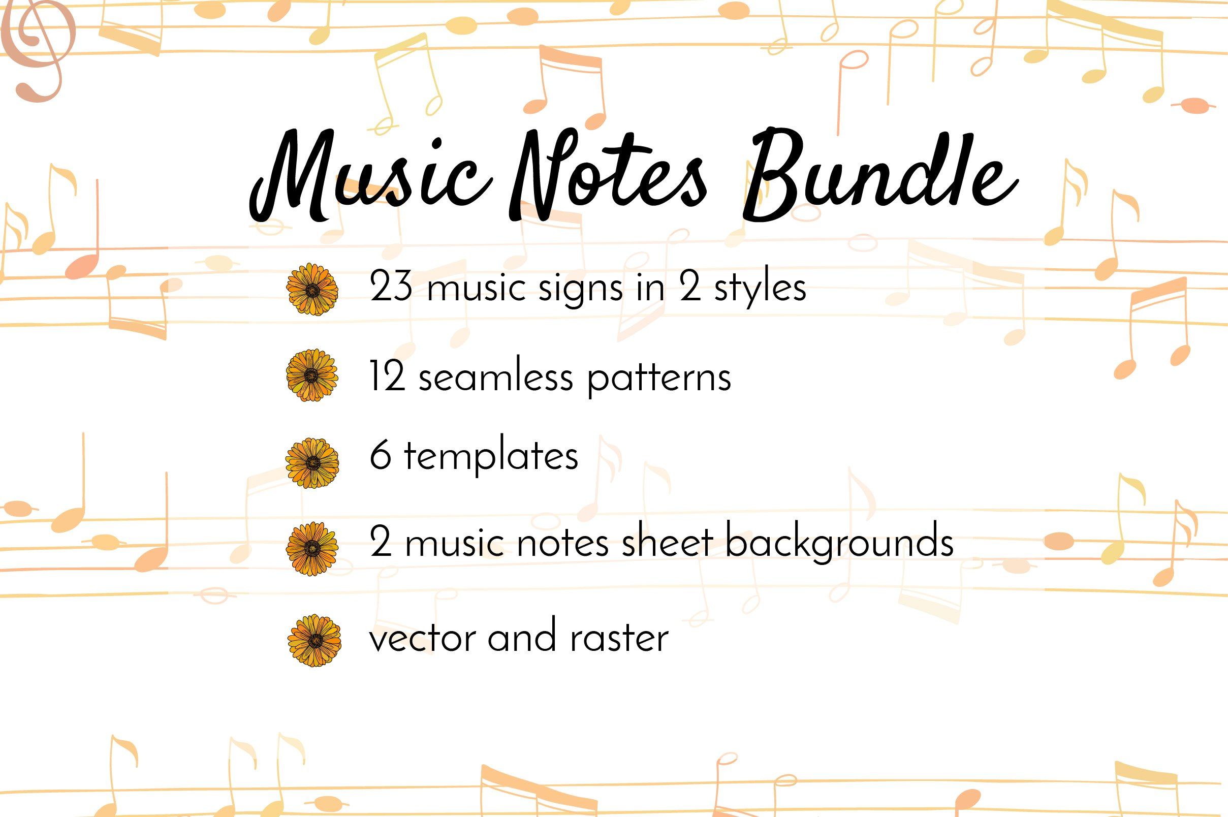 Music Notes Bundle ~ Graphics ~ Creative Market