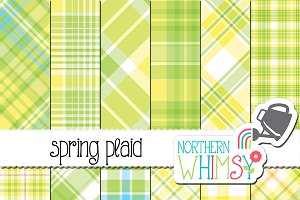 Yellow & Green Spring Plaid