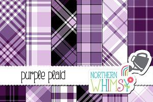 Purple Plaid Patterns