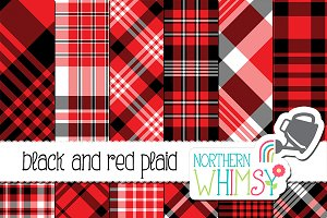 Red and Black Plaid Patterns