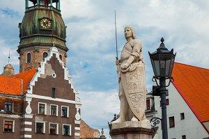 Town Hall Square, Riga, Latvia.