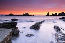 Gueirua beach in Asturias.