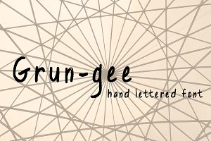 Grun-gee hand lettered font