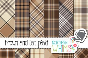 Masculine Brown & Tan Plaid Patterns