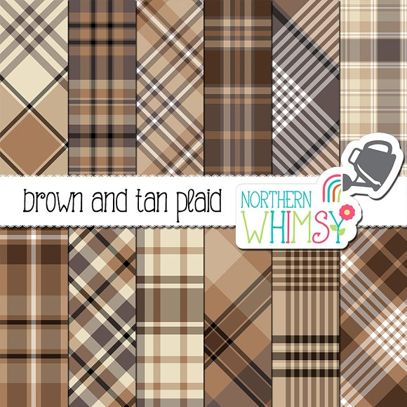 Masculine Brown Tan Plaid Patterns